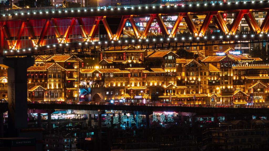 hongyadong chongqing nightphotos Jailingriver nightscape city