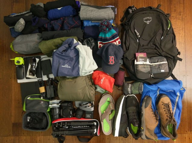 His travel packing gear for men