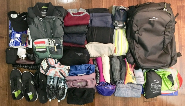 Her travel packing gear for women